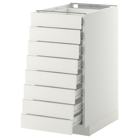 Напольный шкаф 8 фронтальных, 8 низких ящиков МЕТОД / ФОРВАРА белый артикуль № 992.618.90 в наличии. Онлайн каталог IKEA Минск. Быстрая доставка и монтаж.