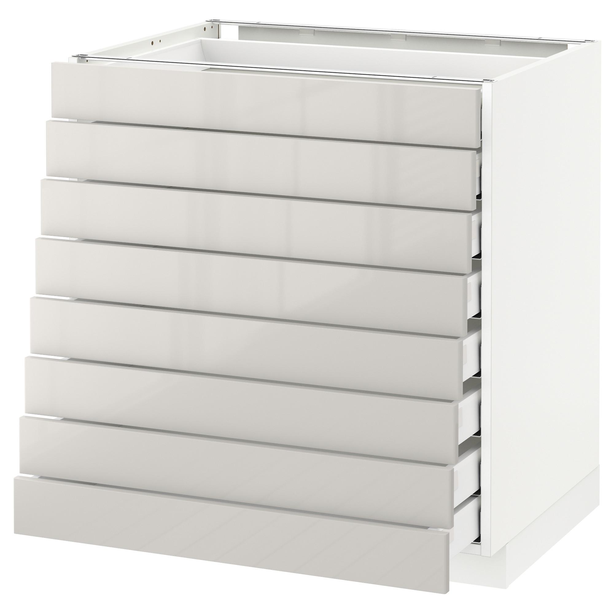 Напольный шкаф 8 фронтальных, 8 низких ящиков МЕТОД / МАКСИМЕРА светло-серый артикуль № 092.343.06 в наличии. Online сайт IKEA РБ. Недорогая доставка и монтаж.