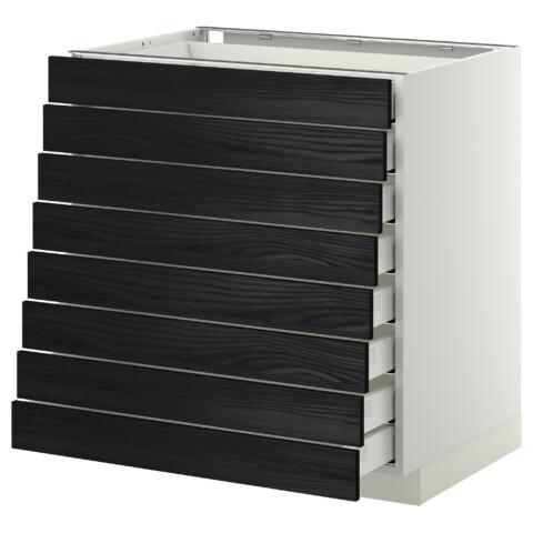 Напольный шкаф 8 фронтальных, 8 низких ящиков МЕТОД / МАКСИМЕРА черный артикуль № 092.343.11 в наличии. Онлайн сайт IKEA Беларусь. Недорогая доставка и установка.