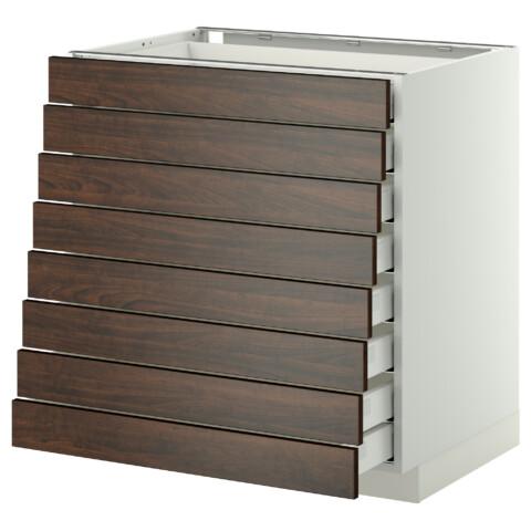 Напольный шкаф 8 фронтальных, 8 низких ящиков МЕТОД / МАКСИМЕРА белый артикуль № 092.346.60 в наличии. Интернет магазин IKEA РБ. Недорогая доставка и соборка.
