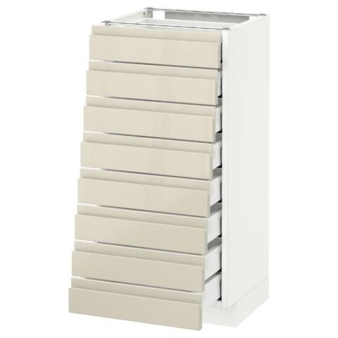 Напольный шкаф 8 фронтальных, 8 низких ящиков МЕТОД / МАКСИМЕРА белый артикуль № 092.369.99 в наличии. Интернет магазин IKEA РБ. Недорогая доставка и установка.