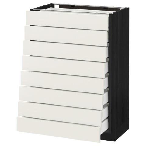 Напольный шкаф 8 фронтальных, 8 низких ящиков МЕТОД / МАКСИМЕРА черный артикуль № 092.370.03 в наличии. Интернет сайт IKEA Минск. Недорогая доставка и соборка.