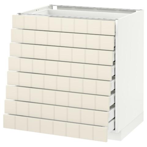 Напольный шкаф 8 фронтальных, 8 низких ящиков МЕТОД / МАКСИМЕРА белый артикуль № 192.305.86 в наличии. Онлайн каталог IKEA РБ. Недорогая доставка и установка.