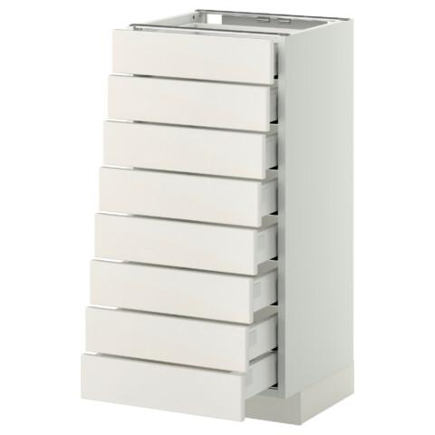 Напольный шкаф 8 фронтальных, 8 низких ящиков МЕТОД / МАКСИМЕРА белый артикуль № 192.338.44 в наличии. Online магазин IKEA РБ. Недорогая доставка и установка.
