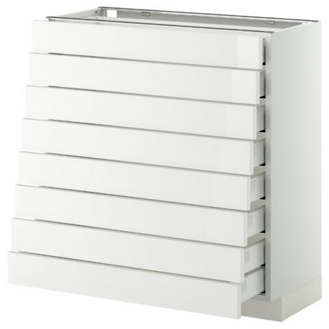 Напольный шкаф 8 фронтальных, 8 низких ящиков МЕТОД / МАКСИМЕРА белый артикуль № 192.345.27 в наличии. Онлайн каталог IKEA РБ. Недорогая доставка и монтаж.