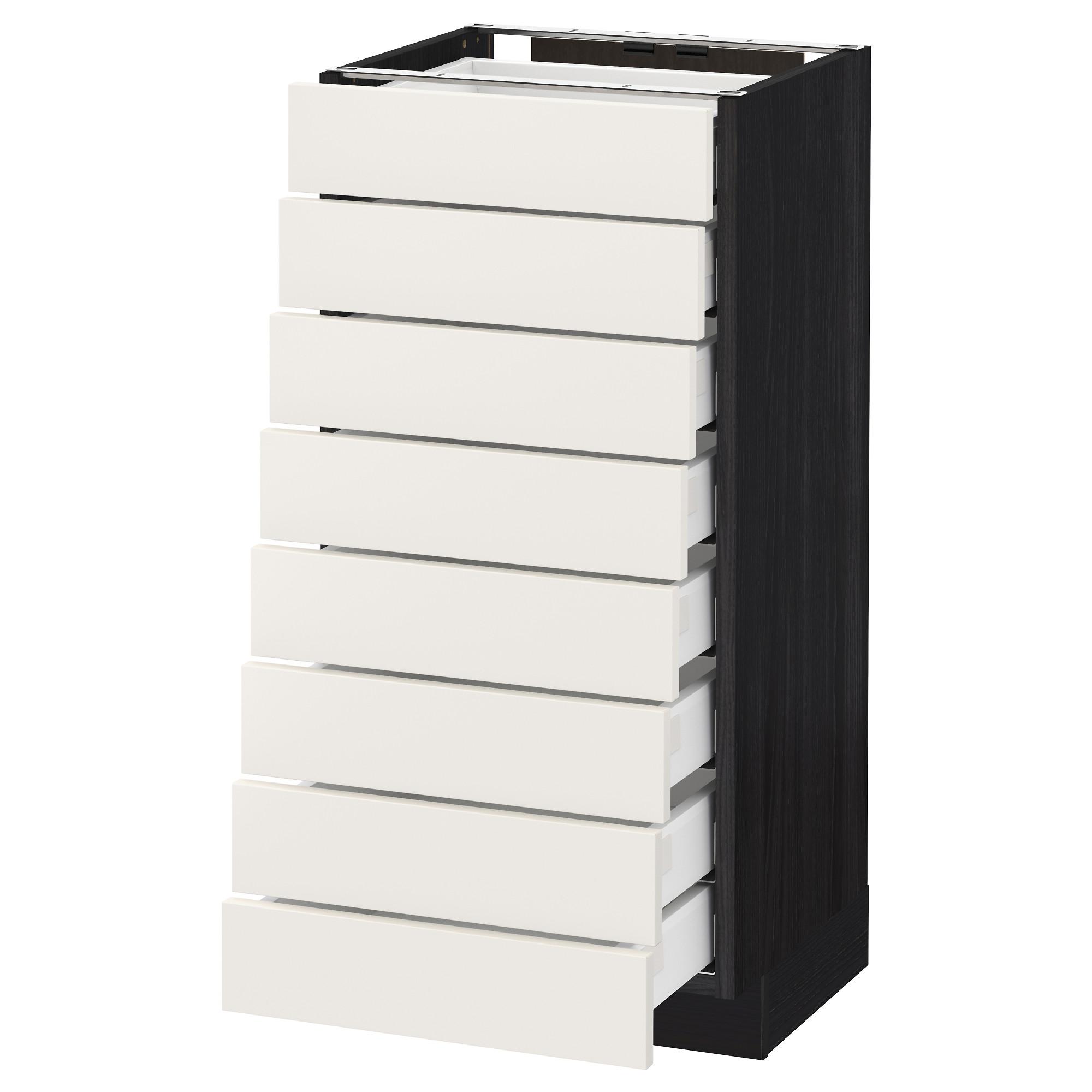 Напольный шкаф 8 фронтальных, 8 низких ящиков МЕТОД / МАКСИМЕРА черный артикуль № 192.369.94 в наличии. Онлайн сайт IKEA Минск. Быстрая доставка и соборка.