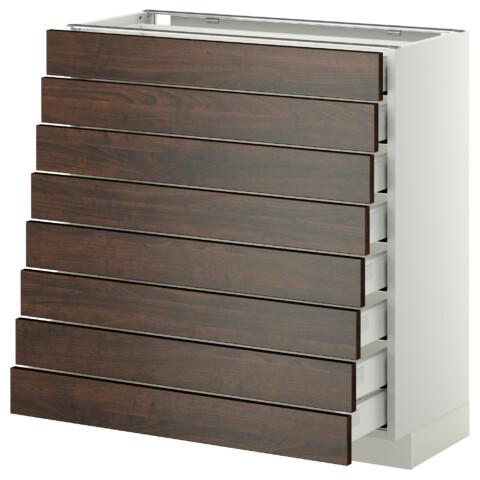 Напольный шкаф 8 фронтальных, 8 низких ящиков МЕТОД / МАКСИМЕРА белый артикуль № 292.347.15 в наличии. Online сайт IKEA РБ. Недорогая доставка и установка.