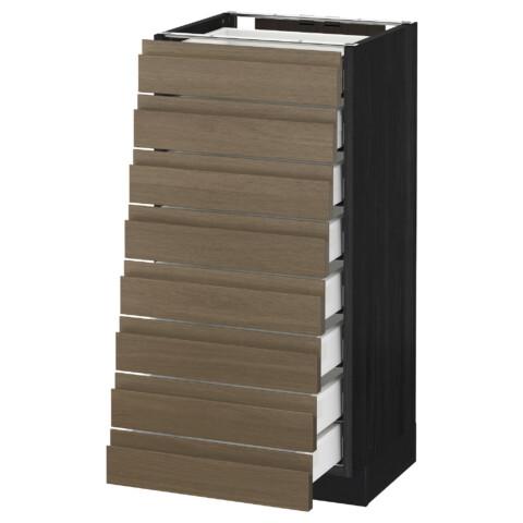 Напольный шкаф 8 фронтальных, 8 низких ящиков МЕТОД / МАКСИМЕРА черный артикуль № 292.369.98 в наличии. Онлайн каталог IKEA Беларусь. Недорогая доставка и установка.