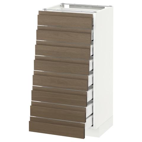 Напольный шкаф 8 фронтальных, 8 низких ящиков МЕТОД / МАКСИМЕРА белый артикуль № 292.370.02 в наличии. Онлайн сайт IKEA РБ. Недорогая доставка и соборка.