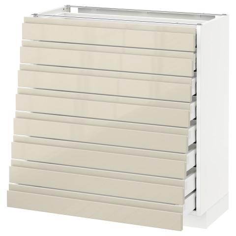Напольный шкаф 8 фронтальных, 8 низких ящиков МЕТОД / МАКСИМЕРА белый артикуль № 292.370.16 в наличии. Интернет магазин IKEA РБ. Недорогая доставка и монтаж.