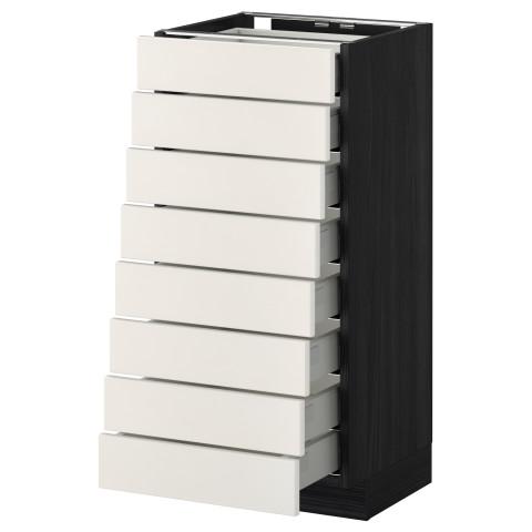 Напольный шкаф 8 фронтальных, 8 низких ящиков МЕТОД / МАКСИМЕРА черный артикуль № 392.338.43 в наличии. Онлайн каталог IKEA Минск. Быстрая доставка и установка.