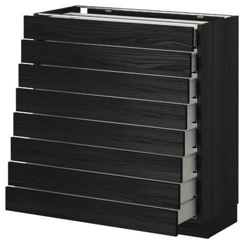 Напольный шкаф 8 фронтальных, 8 низких ящиков МЕТОД / МАКСИМЕРА черный артикуль № 392.345.26 в наличии. Онлайн сайт IKEA Минск. Быстрая доставка и установка.