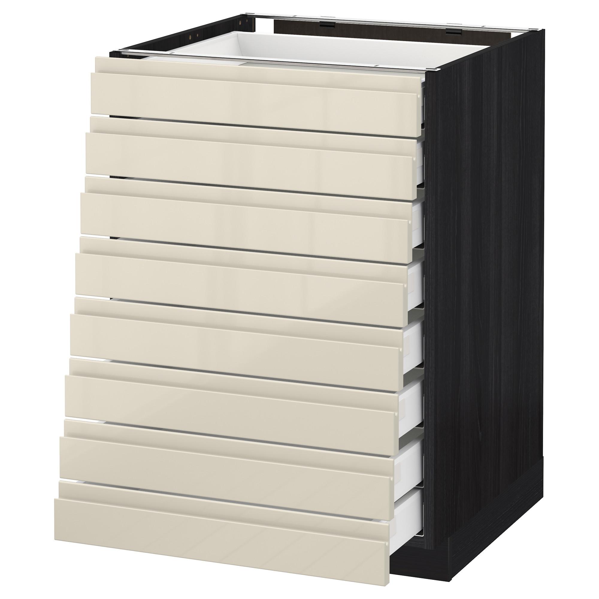 Напольный шкаф 8 фронтальных, 8 низких ящиков МЕТОД / МАКСИМЕРА черный артикуль № 492.373.79 в наличии. Online сайт IKEA РБ. Недорогая доставка и монтаж.