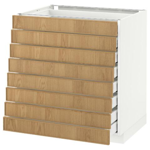 Напольный шкаф 8 фронтальных, 8 низких ящиков МЕТОД / МАКСИМЕРА белый артикуль № 592.343.04 в наличии. Онлайн сайт IKEA Минск. Недорогая доставка и монтаж.