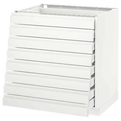 Напольный шкаф 8 фронтальных, 8 низких ящиков МЕТОД / МАКСИМЕРА белый артикуль № 592.366.28 в наличии. Онлайн сайт IKEA Беларусь. Быстрая доставка и соборка.
