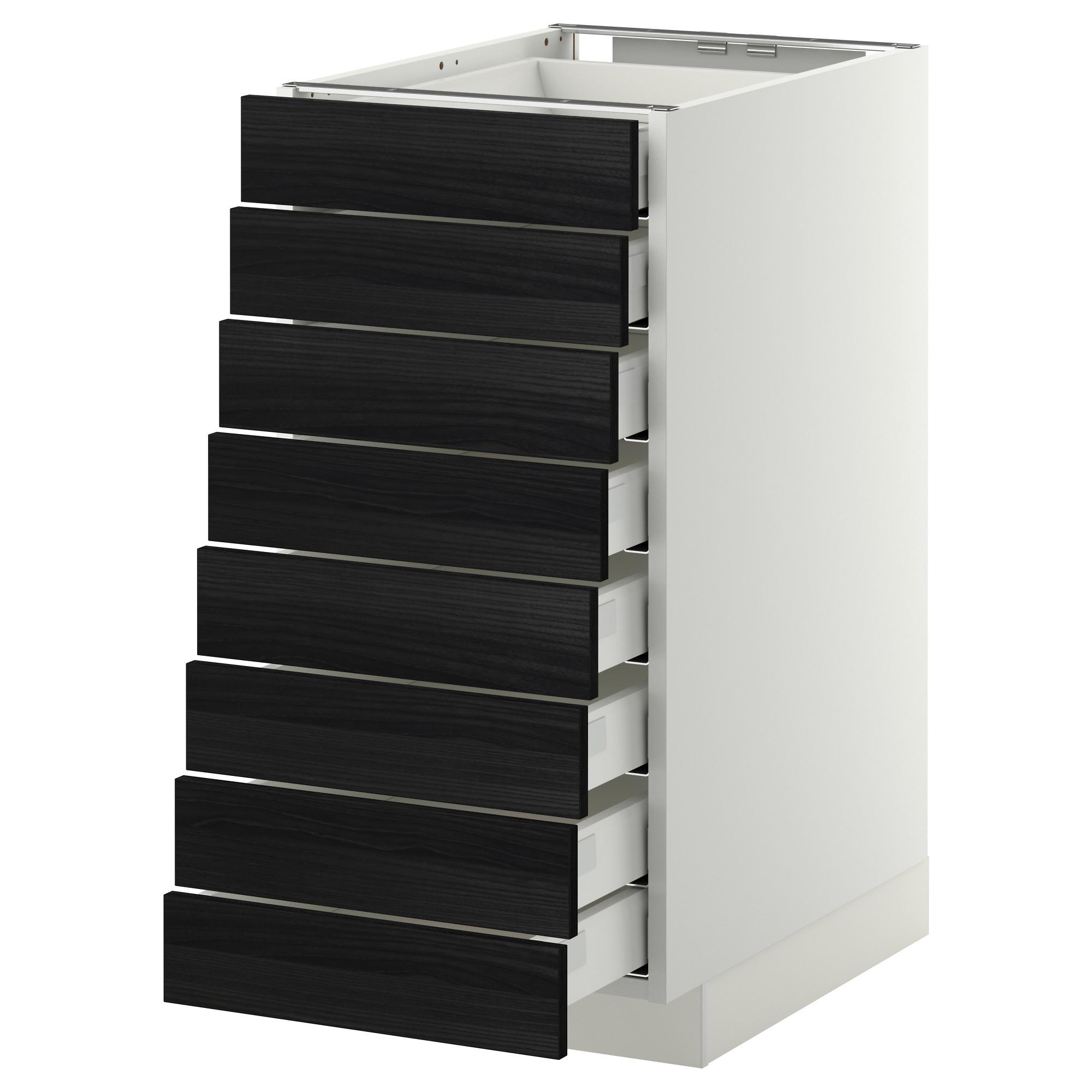Напольный шкаф 8 фронтальных, 8 низких ящиков МЕТОД / МАКСИМЕРА черный артикуль № 792.343.03 в наличии. Интернет каталог IKEA РБ. Недорогая доставка и соборка.