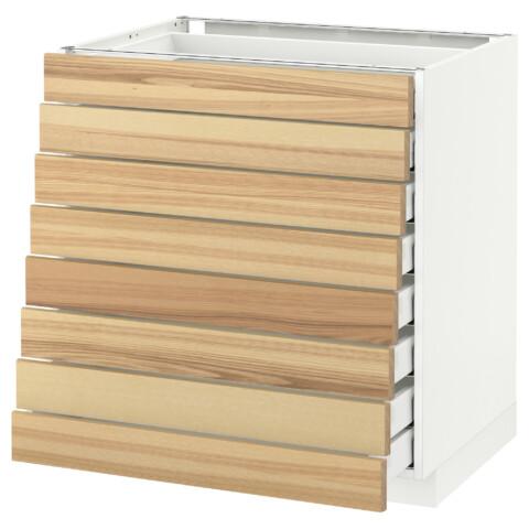 Напольный шкаф 8 фронтальных, 8 низких ящиков МЕТОД / МАКСИМЕРА белый артикуль № 892.343.07 в наличии. Интернет магазин IKEA РБ. Быстрая доставка и монтаж.
