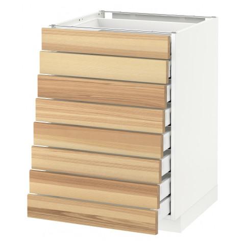 Напольный шкаф 8 фронтальных, 8 низких ящиков МЕТОД / МАКСИМЕРА белый артикуль № 892.349.63 в наличии. Интернет магазин IKEA РБ. Недорогая доставка и монтаж.