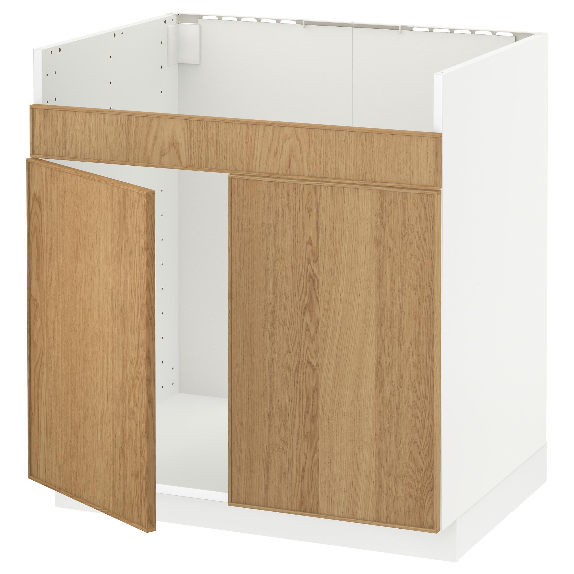 Напольный шкаф для двойной мойки ДУМШЁ МЕТОД белый артикуль № 592.255.35 в наличии. Интернет сайт IKEA Беларусь. Быстрая доставка и монтаж.