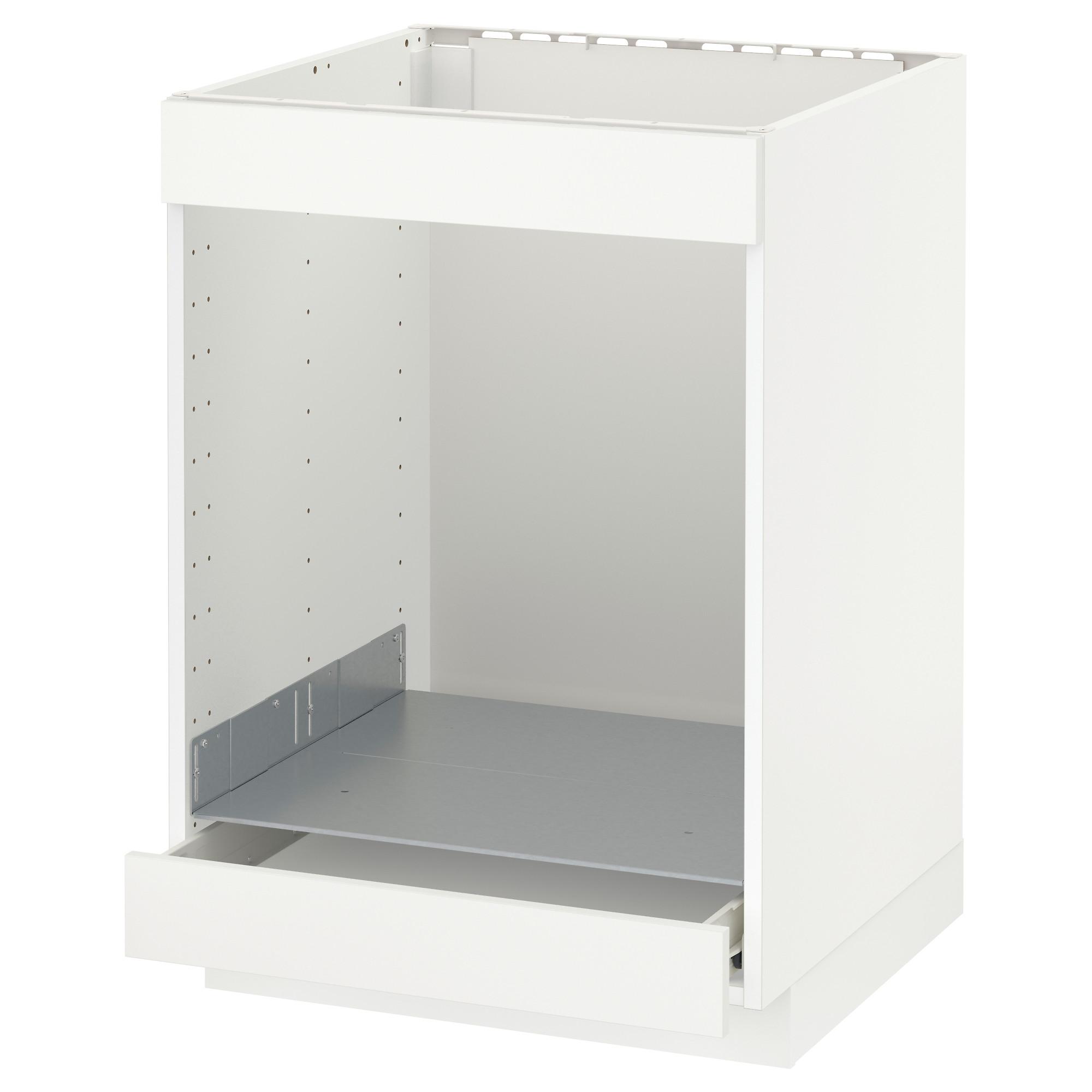 Напольный шкаф для/вароч панели+духовки/ящик МЕТОД белый артикуль № 392.619.87 в наличии. Online каталог IKEA РБ. Быстрая доставка и установка.