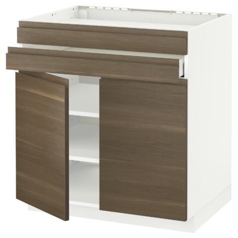 Напольный шкаф для варочной панели, 2 ящика, 2 фасада, 1 ящик МЕТОД / МАКСИМЕРА белый артикуль № 092.386.58 в наличии. Online магазин IKEA Беларусь. Недорогая доставка и монтаж.