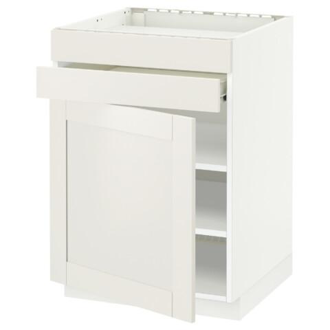 Напольный шкаф для варочной панели, доводчик, 2 фасада, 1 ящик МЕТОД / ФОРВАРА белый артикуль № 992.656.66 в наличии. Интернет каталог IKEA Беларусь. Быстрая доставка и соборка.