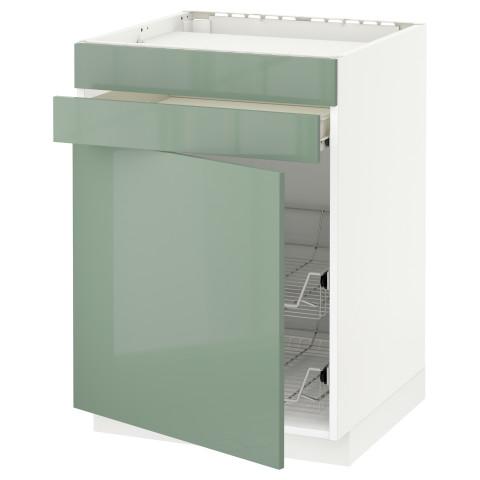 Напольный шкаф для варочной панели, ящик, 2 проволочных корзины МЕТОД / ФОРВАРА светло-зеленый артикуль № 592.656.73 в наличии. Онлайн каталог IKEA Минск. Недорогая доставка и установка.