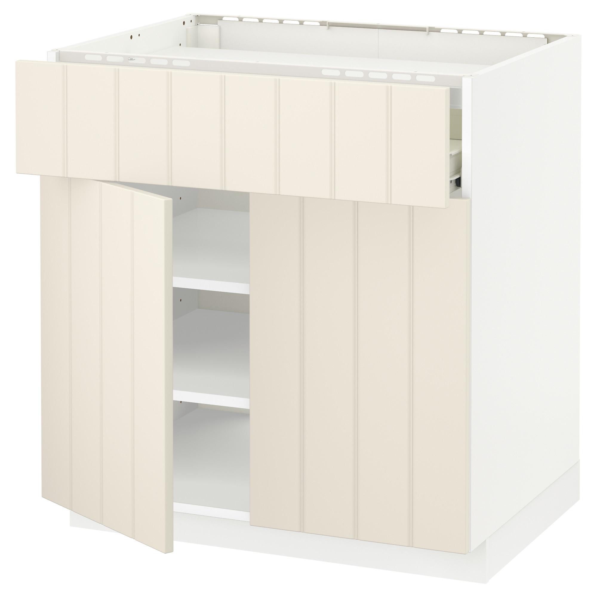 Напольный шкаф для варочной панели, ящик, полка, 2 дверцы МЕТОД / ФОРВАРА белый артикуль № 192.619.31 в наличии. Интернет магазин IKEA Минск. Недорогая доставка и монтаж.