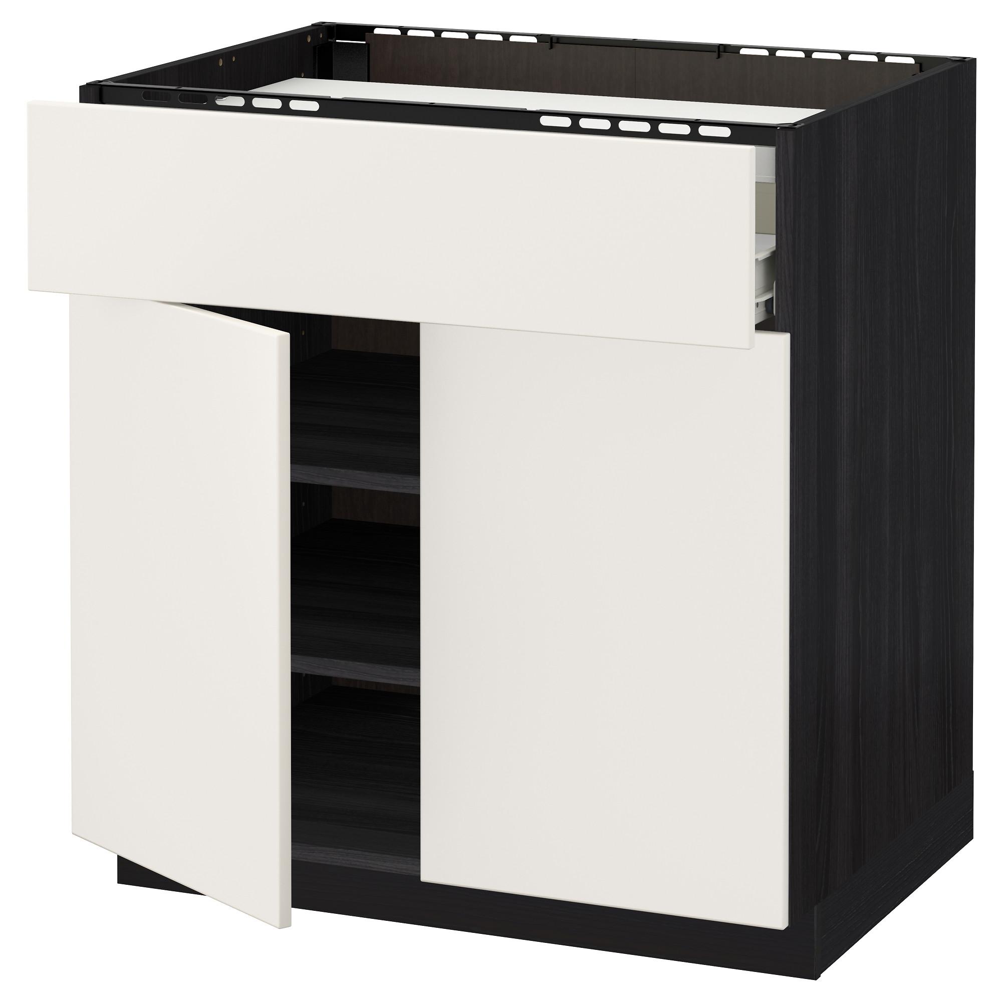 Напольный шкаф для варочной панели, ящик, полка, 2 дверцы МЕТОД / ФОРВАРА черный артикуль № 592.624.29 в наличии. Онлайн каталог IKEA РБ. Недорогая доставка и установка.