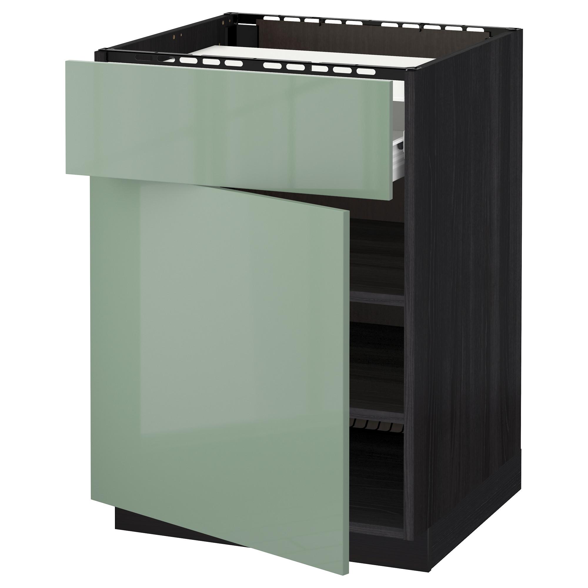 Напольный шкаф для варочной панели, ящик, полка, дверцы МЕТОД / ФОРВАРА черный артикуль № 592.654.56 в наличии. Онлайн магазин IKEA РБ. Быстрая доставка и соборка.