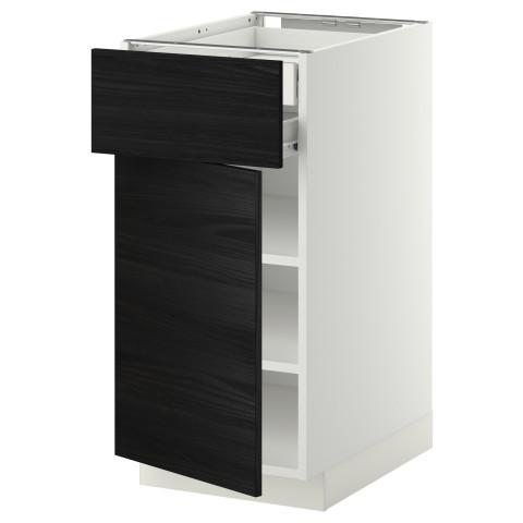 Напольный шкаф дверцы/фр панель/плк/2 низких ящик МЕТОД / ФОРВАРА черный артикуль № 992.673.21 в наличии. Онлайн магазин IKEA Минск. Быстрая доставка и монтаж.