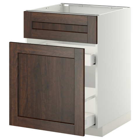 Напольный шкаф под мойку, сорт муcора, 1 дверца, 2 ящика МЕТОД / МАКСИМЕРА белый артикуль № 092.347.21 в наличии. Онлайн магазин IKEA РБ. Недорогая доставка и монтаж.