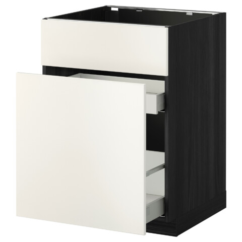 Напольный шкаф под мойку, сорт муcора, 1 дверца, 2 ящика МЕТОД / МАКСИМЕРА черный артикуль № 392.338.57 в наличии. Онлайн сайт IKEA Беларусь. Недорогая доставка и соборка.
