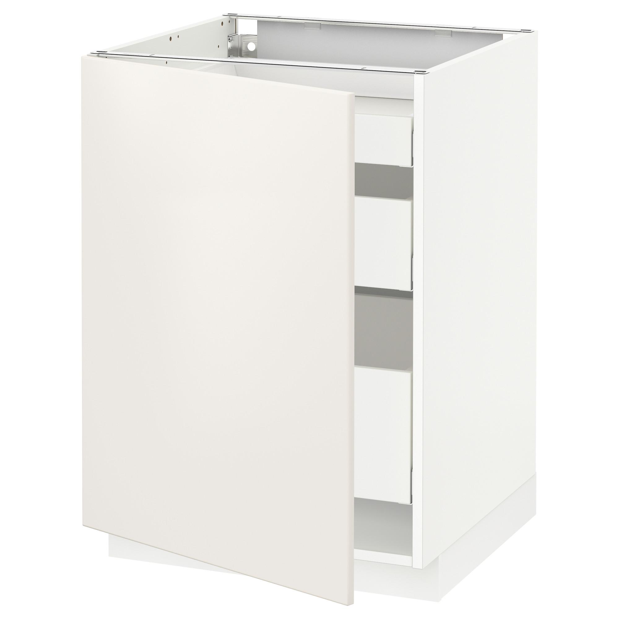 Напольный шкаф с 1 дверцей, 3 ящика МЕТОД / МАКСИМЕРА белый артикуль № 092.347.40 в наличии. Online сайт IKEA Минск. Недорогая доставка и монтаж.