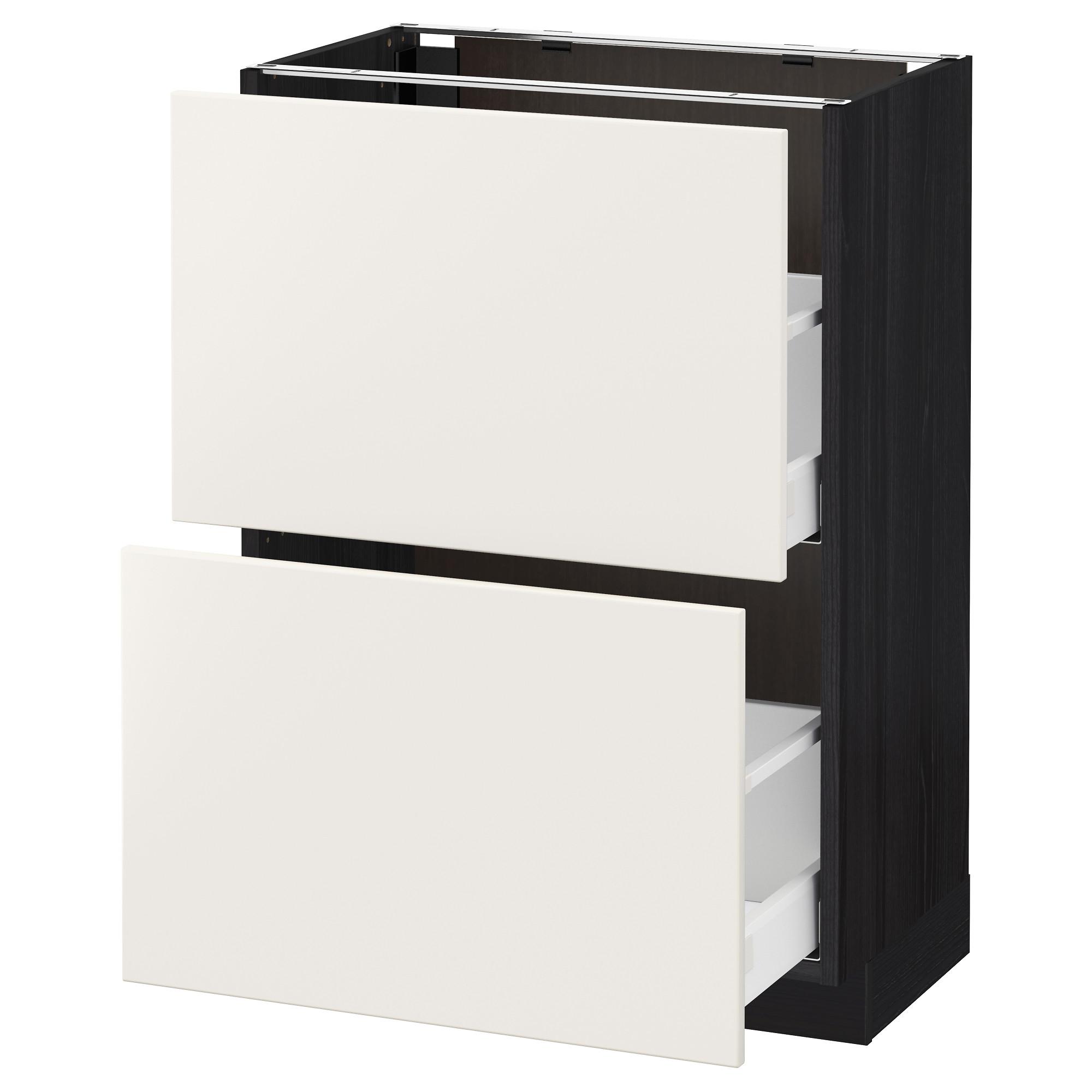 Напольный шкаф с 2 ящиками МЕТОД / МАКСИМЕРА черный артикуль № 092.347.97 в наличии. Онлайн сайт IKEA Беларусь. Быстрая доставка и установка.