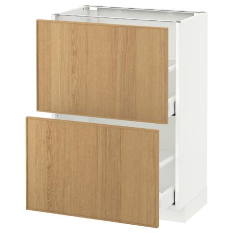 Напольный шкаф с 2 ящиками МЕТОД / МАКСИМЕРА белый артикуль № 992.359.62 в наличии. Online магазин IKEA РБ. Недорогая доставка и соборка.
