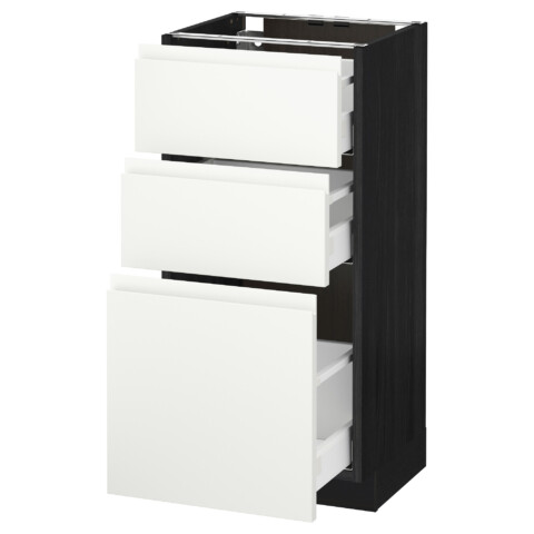 Напольный шкаф с 3 ящиками МЕТОД / МАКСИМЕРА черный артикуль № 692.387.59 в наличии. Online сайт IKEA РБ. Быстрая доставка и соборка.