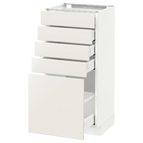 Напольный шкаф с 5 ящиками МЕТОД / МАКСИМЕРА белый артикуль № 192.350.65 в наличии. Интернет каталог IKEA РБ. Быстрая доставка и монтаж.