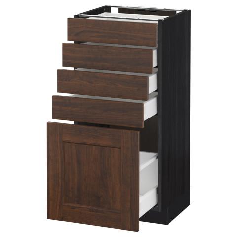 Напольный шкаф с 5 ящиками МЕТОД / МАКСИМЕРА черный артикуль № 192.367.05 в наличии. Online магазин IKEA Минск. Недорогая доставка и установка.