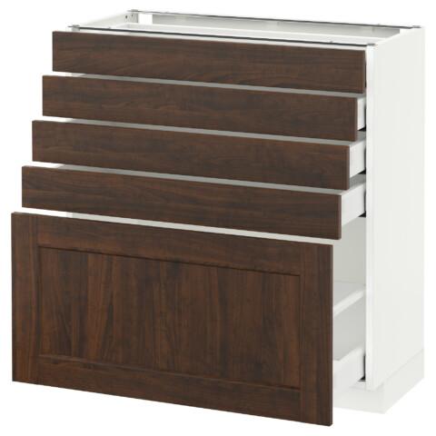 Напольный шкаф с 5 ящиками МЕТОД / МАКСИМЕРА белый артикуль № 192.367.10 в наличии. Онлайн магазин IKEA Беларусь. Быстрая доставка и установка.