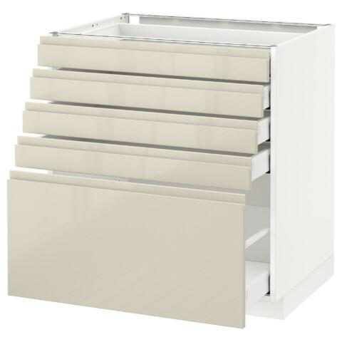 Напольный шкаф с 5 ящиками МЕТОД / МАКСИМЕРА белый артикуль № 292.385.77 в наличии. Онлайн сайт IKEA Республика Беларусь. Быстрая доставка и монтаж.