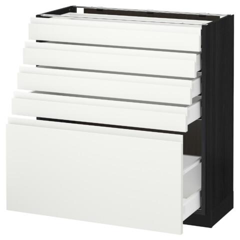 Напольный шкаф с 5 ящиками МЕТОД / МАКСИМЕРА черный артикуль № 292.387.99 в наличии. Онлайн сайт IKEA Беларусь. Недорогая доставка и соборка.