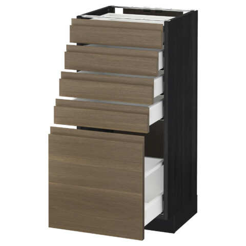 Напольный шкаф с 5 ящиками МЕТОД / МАКСИМЕРА черный артикуль № 492.387.84 в наличии. Интернет магазин IKEA Минск. Недорогая доставка и монтаж.