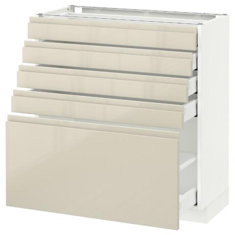 Напольный шкаф с 5 ящиками МЕТОД / МАКСИМЕРА белый артикуль № 492.388.02 в наличии. Интернет магазин IKEA РБ. Недорогая доставка и монтаж.