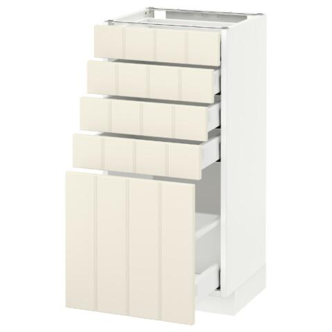 Напольный шкаф с 5 ящиками МЕТОД / МАКСИМЕРА белый артикуль № 592.307.25 в наличии. Online магазин IKEA Минск. Недорогая доставка и установка.