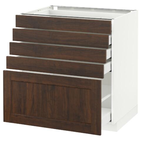 Напольный шкаф с 5 ящиками МЕТОД / МАКСИМЕРА белый артикуль № 592.365.53 в наличии. Онлайн магазин IKEA Минск. Недорогая доставка и соборка.