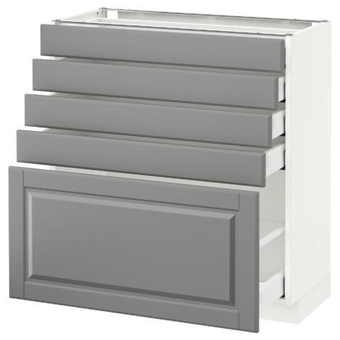Напольный шкаф с 5 ящиками МЕТОД / МАКСИМЕРА серый артикуль № 892.327.61 в наличии. Интернет сайт IKEA РБ. Быстрая доставка и соборка.