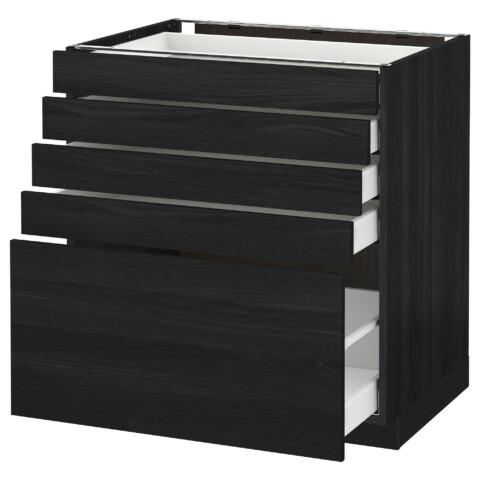 Напольный шкаф с 5 ящиками МЕТОД / МАКСИМЕРА черный артикуль № 992.358.15 в наличии. Онлайн сайт ИКЕА РБ. Недорогая доставка и установка.