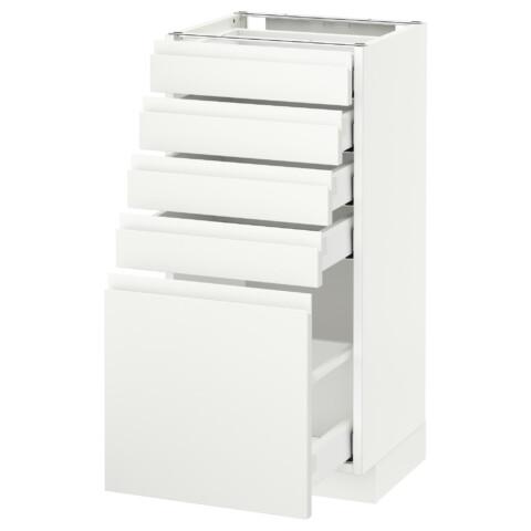 Напольный шкаф с 5 ящиками МЕТОД / МАКСИМЕРА белый артикуль № 992.387.86 в наличии. Онлайн магазин IKEA Минск. Недорогая доставка и соборка.