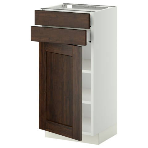 Напольный шкаф с дверцей, 2 ящиками МЕТОД / МАКСИМЕРА белый артикуль № 292.363.28 в наличии. Интернет магазин IKEA РБ. Быстрая доставка и соборка.